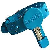keyfix Schlüsselarmband XL, Fitness Armband für Schlüssel zum Joggen Schwimmen Laufen, Jogging Schlüsselband blau, KF04
