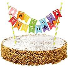 31 St/ük Hoch Geburtstagskuchen Kerzen Happy Birthday Kerzen mit Haltern f/ür Kinder und Erwachsene Geburtstag Hochzeit Party Deko Queta Geburtstag Kerzen