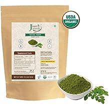 100% Organic Moringa Leaf Powder (0.5 lb / 227g / 08 oz) by Just Jaivik   Raw, Gluten-Free & Non-GMO - Certified Organic Under NPOP and NOP Standards