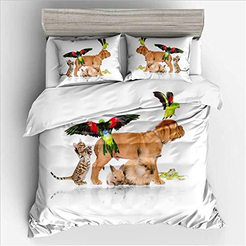 SHJIA 3D Bettbezug Mit Kissenbezügen Bettwäsche Set Twin Voll Königin King Size Blume Weiche Bettdecken B 135x200 cm (- Königin Blumen Bettwäsche-set)