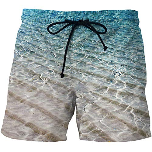 FJJBHSD Shorts Herren Quick Dry Strand Shorts 3D Creative Print Freizeitshorts A1 6XL Kingston Zip