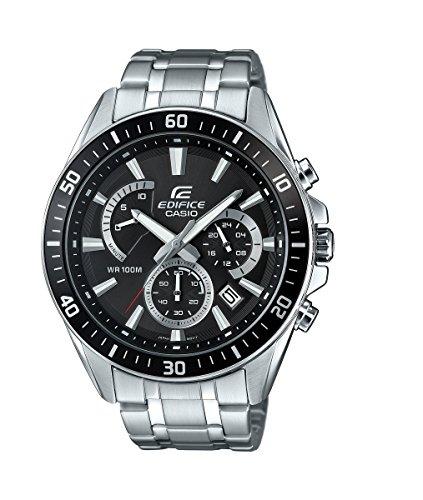 Casio Reloj Analogico para Hombre de Cuarzo con Correa en Acero Inoxidable EFR-552D-1AVUEF