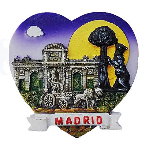 MUYU Magnet 3D-Symbolize von Madrid Spanien Kühlschrankmagnet Souvenir Geschenk Home & Kitchen Dekoration, magnetischer Aufkleber, Madrid Spanien Kühlschrankmagnet (Magnet Madrid)