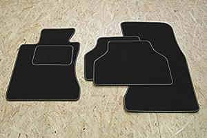 Teileplus24 B55 Set de tapis de sol Premium avec bordure en caoutchouc et coutures décoratives