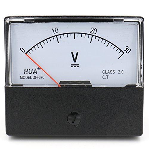 Dc Analog-voltmeter (Heschen Voltmeter, rechteckig, analoge Anzeige, Volt-Spannungsprüfer Modell 670, DC 0-30 V, Klasse 2.0.)