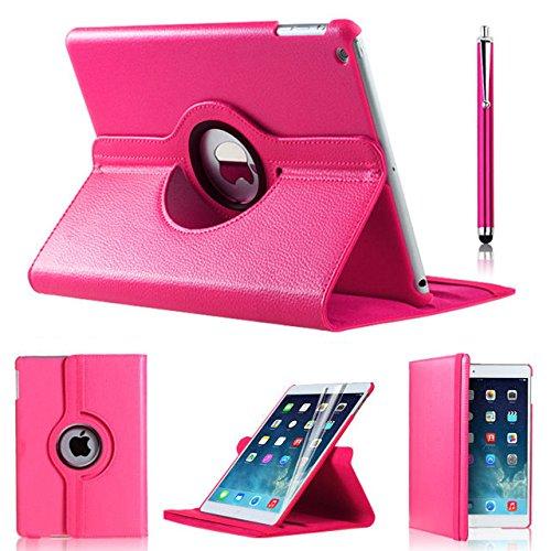 Schutzhülle für iPad Air 2 (Modelljahr 2014) im Folioformat von iPro Accessories®, aus hochwertigem PU-Leder, schlanke Passform, Kantenschutz (Ipad 3 Fall Kantenschutz)