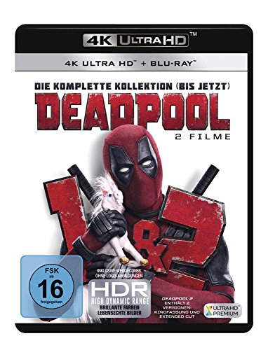 Deadpool 1+2  (3 Blu-rays 4K Ultra HD) (+ 3 Blu-rays 2D) Hd-film-review