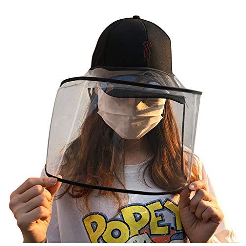 Writtian Schirmmütze Baseball Kappe Unisex Einstellbare Multifunktion Staubdicht Staubmasken Staub Speichelsicher Outdoor-Hut Abnehmbar Kunststoff Schildkappe