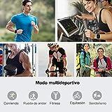 willful Smartwatch Impermeable Reloj Inteligente con Pulsómetro, Pulsera Inteligente para Deporte con Cronómetro, Podómetro. Smartwatch Hombre Mujer Niños para Android iOS Xiaomi Huawei iPhone(Azul)