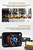 apeman Dashcam Full HD Autokamera 1080P DVR mit 170° Weitwinkelobjektiv, Infrarotfunktion, WDR, Bewegungserkennung, Parkmonitor, Loop-Aufnahme, Nachtsicht und G-Sensor - 6