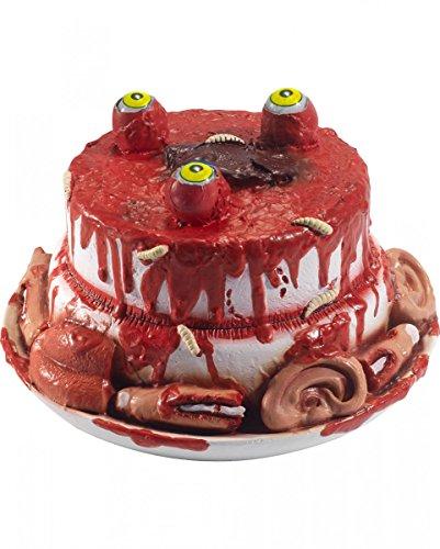 Horror-Shop Zombie Deko Torte für Halloween   als Tischdeko   25 x 25 x 14 cm
