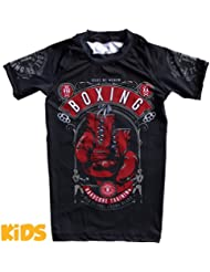 Kids Rashguard Hardcore Training Code Of Honor T-Shirt de compression Enfants Garçon