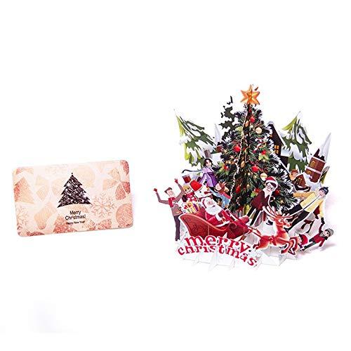 Karte Dreidimensionale Gruß 3D-Papier-Schnitt-Weihnachtsbaum für Weihnachten Weihnachtsfest kreative Geschenke