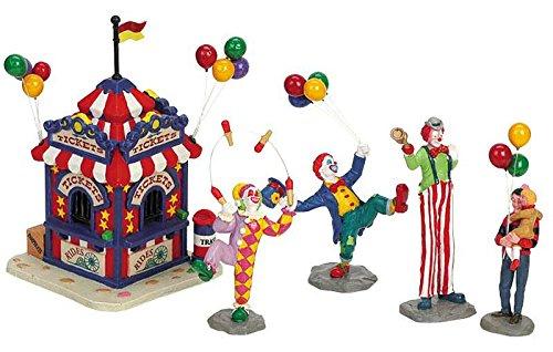 with Figurines - Ticketschalter mit Clowns - Carnival - Weihnachtsdorf ()