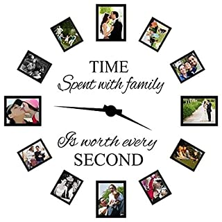 Time Spent with Family is Worth Every Second Decals Home Decoration Wall Sticker