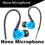 Bescita Mode in-Ear Kopfhörer, 3,5 mm mit HiFi Kopfhörer QKZ DM200 Bass Stereo für iPhone, Huawei und Samsung (Blau)