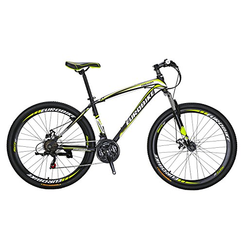 51ddYP6PBtL. SS500  - Eurobike X1 Mountain Bike 21 Speed Dual Disc Brake 27.5 Wheels Suspension Fork Mountain Bicycle