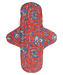 Femy Washable & Reusable Sanitary Cloth Pad (Single Pad) - Kalamkari Red, 270 mm