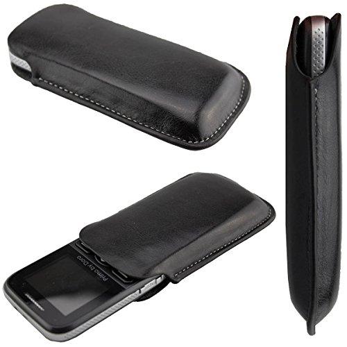 caseroxx Classic Etui Handy-Tasche für Doro Primo 215 aus Kunstleder, Handy-Hülle in schwarz
