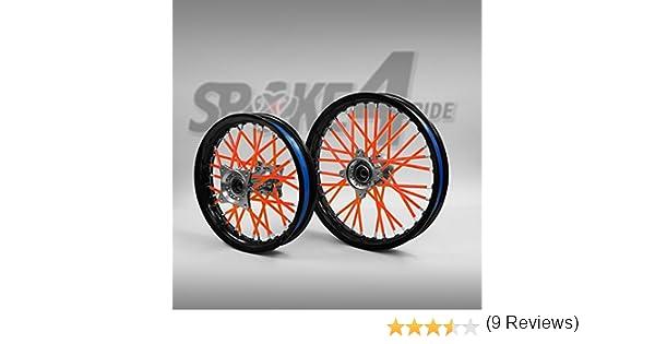 Copriraggi RossO//Arancio Copre raggio Spoke Skins Copri-raggi Motocross cerchio enduro ruota moto