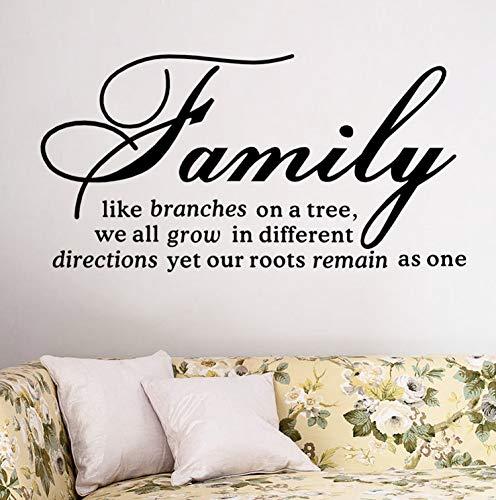 Cchpfcc family like branch decalcomanie da muro adesivo da parete smontabile citazioniarte murale decorazioni per la casa soggiorno decorazione camera da letto