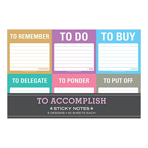 Knock Knock to Accomplish Sticky Note Packet: To Accomplish