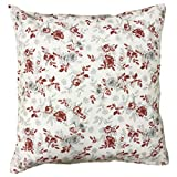 Hans-Textil-Shop Kissenbezug Blumen Mischgewebe (Rot, 40x40 cm)