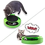 #9: Cat Interactive Toys with a Running Mice and a Scratching Pad,Catch The Mouse,Cat Scratcher Catnip Toy,Green