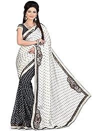 Kanchnar Satin Saree (109S1006_Black And Grey)