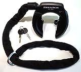 Trelock Rahmenschloss RS 350 PROTECT-O-CONNECT mit Zusatz Kette ZR 355 und Tasche