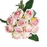 Künstliche Rosen Bridal Wedding Party Home Decor Bouquet Fake Real Touch Seide Blume Bunch Künstliche Blumen 11Köpfe