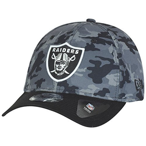 New Era Herren Caps / Flexfitted Cap Camo Team Stretch Oakland Raiders 39Thirty Cap camouflage L/XL (Fit Camo Hut Flex)