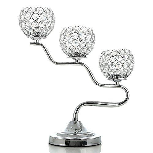 VINCIGANT Silber Kristall Kandelaber Kerzenständer/Kerzenhalter/Teelichthalter gebraucht kaufen  Wird an jeden Ort in Deutschland
