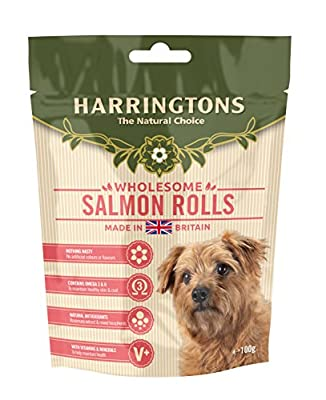 Harringtons Fresh Bakes Baked Salmon Fish Dog Treats 100g, pack of 8