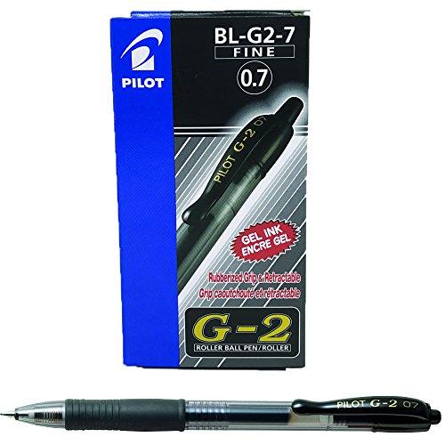 Pilot G207 Gelschreiber (Druckmechanik, 0,7 mm) 12 Stück schwarz