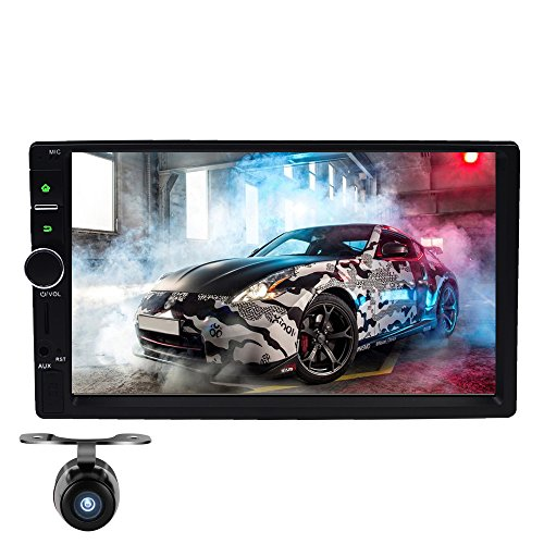 Preisvergleich Produktbild 17,8 cm Android Autoradio Doppel DIN Radio in Dash GPS-Touchscreen GPS 1080P Video Player Quad-Core, unterstützt DAB WiFi Bluetooth RDS USB/3G/OBD2/Subwoofer/(Backup Kamera inklusive)