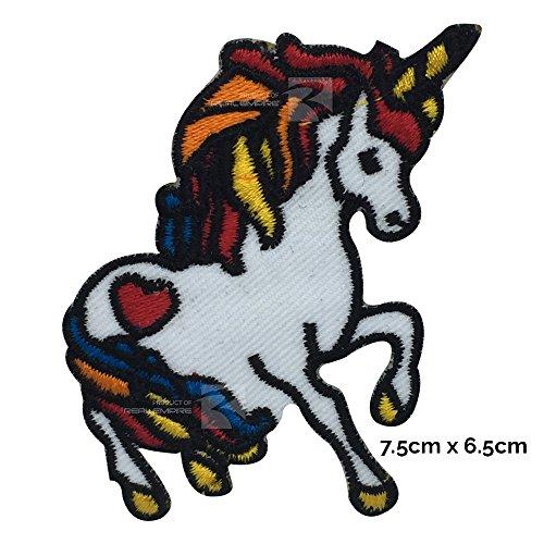 Parche para coser o planchar, diseño de unicornio arcoíris real (1133)