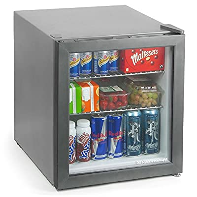 bar@drinkstuff Frostbite Mini Fridge Silver - 49ltr Compact Refrigerator Holds 45 x 330ml Cans| A+ Energy Rating by bar@drinkstuff