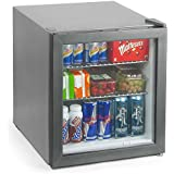 Frostbite Mini Fridge Silver - 49ltr Compact Refrigerator Holds 45 x 330ml Cans| A+ Energy Rating