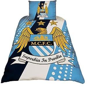 Parure de lit - housse de couette 140X200 Arsenal - Manchester City ou United - Manchester City