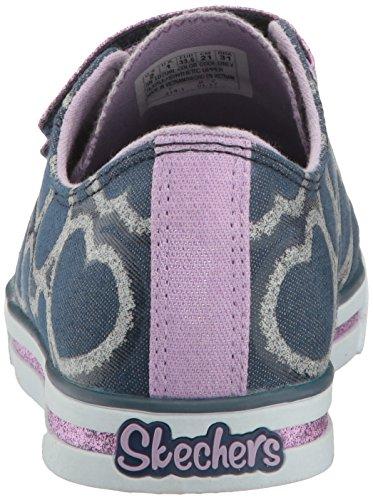 Skechers Mädchen Sparkle Glitz-Heartsy Glam Sneakers Blau (Dnlv)