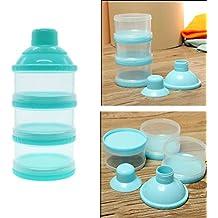 kompassswc Leche en Polvo Dosificador 3 Capa Leche en Polvo Dispensador bebé en alimentos infantiles Leche