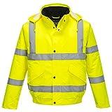 Sicherheitsjacke Bomberjacke Neonfarben Verschiedene Größen - Gelb, XXXXXXL