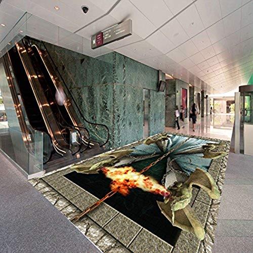 3D Stereo Benutzerdefinierte Bodenbelag Hölle Tür Einkaufszentrum Schlafzimmer Malerei Boden Aufkleber Tapete Wandbild, 300 cm X 210 cm (Die Korallen Insel)