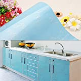 yazi Wallpaper Self Adhesive Laser Sticker Removable Refurbished Kitchen Sliding Door Decor Peony Blue