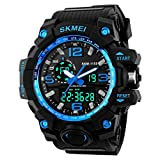 SKMEI Mens Boys Analogue Digital Sport Watch Shock Style Military Big Face Casual