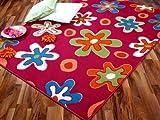 Teppich Modern Trendline Pink Blumen 4 Größen