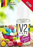 V2 Vape Bubblegum/Kaugummi AROMA/KONZENTRAT hochdosiertes Premium Lebensmittel-Aroma zum selber mischen von E-Liquid/Liquid-Base für E-Zigarette und E-Shisha 10ml 0mg nikotinfrei
