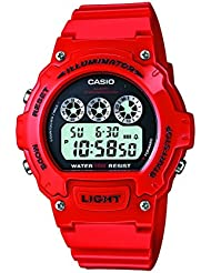 Casio - Unisexe - W-214HC-4A - Sports - Quartz Digital - Cadran LCD - Rouge - Résine