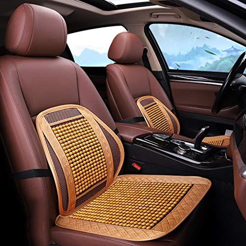 zyy Sitz Polster 2 Stück Komfortabel Holzperlen Autositzüberzug Atmungsaktiv Kühlung Massage GM Vorderseite Sommer Muss Sein Gebraucht Zum Auto (Color : F)